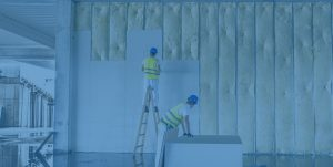 workmen installing drywall pannels