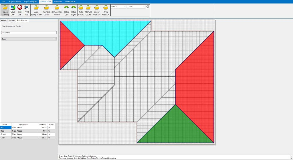 RpaidQuote makes measuring roofing areas very quick