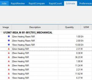 Quantities prepared by RapidQuote insulation estimating software