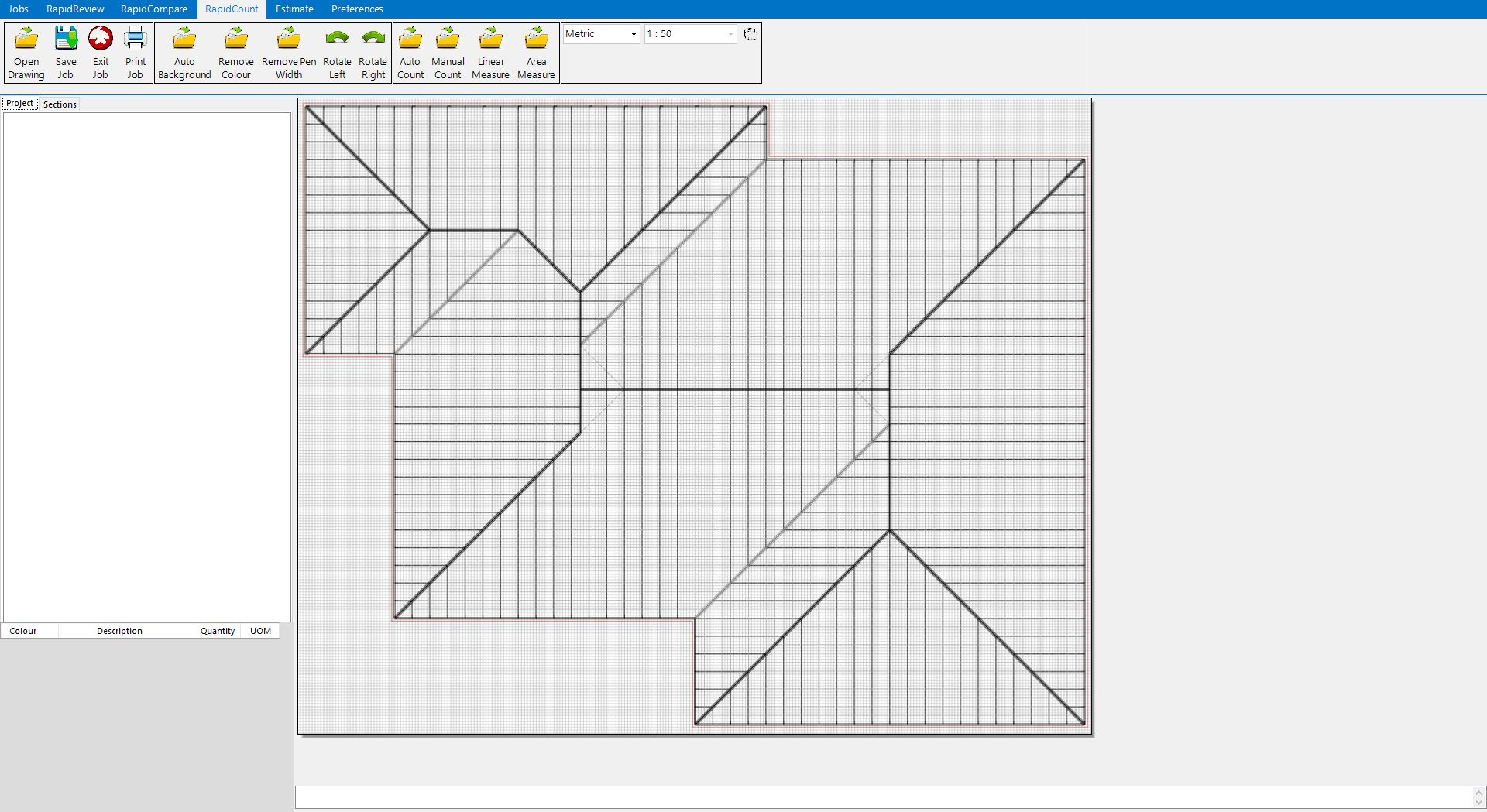 Roofing calculator construction estimating software for Roof drawing software