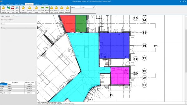 RapidQuote flooring estimating software in action