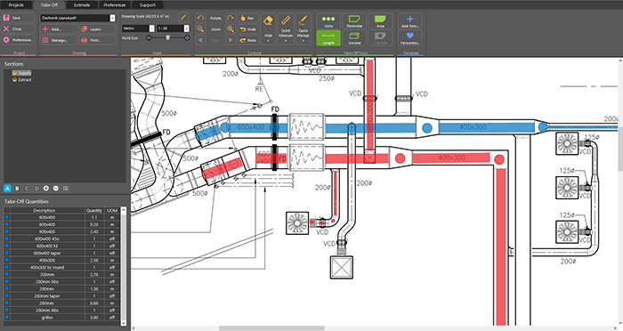 HVAC Estimating and Ductwork Drawing Software | RapidQuote UK | Hvac Drawing Program |  | Estimating Software